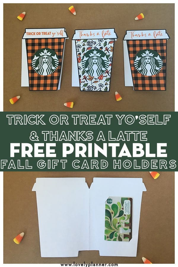 image about Printable Gift Card Holder called Printable Starbucks Present Card Holder - Reward Options
