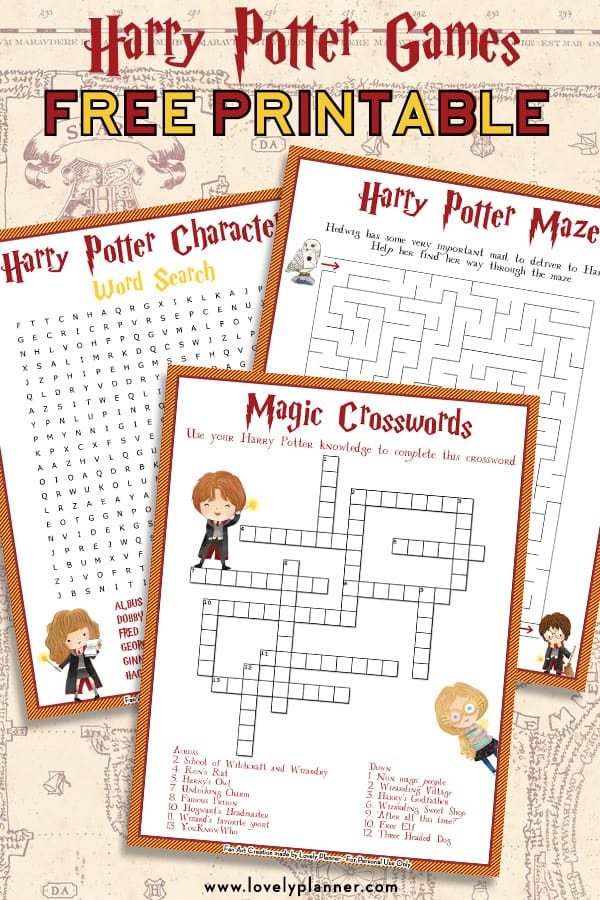 Old Fashioned image inside harry potter printable