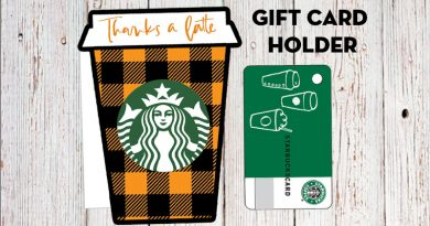 "Fall ""Thanks a latte"" Starbucks Gift Card Holder - Free Printable"