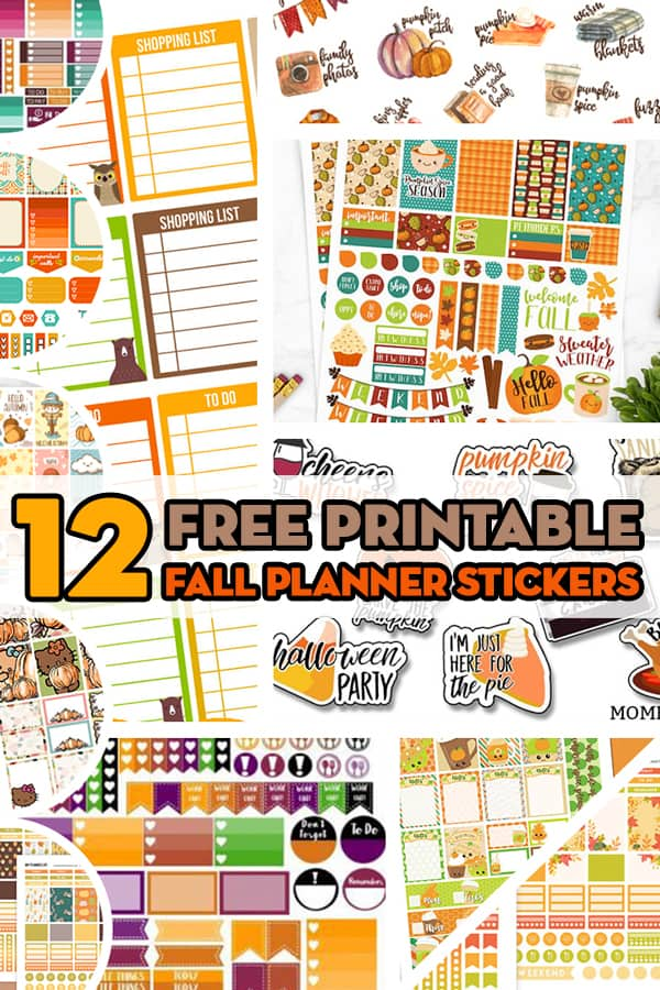 12 Free Printable Fall Planner Stickers Sets Lovely Planner