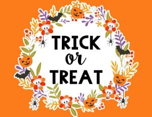 photo relating to Halloween Signs Printable named Totally free Printable Halloween Trick or Handle Signs and symptoms - Stunning Planner