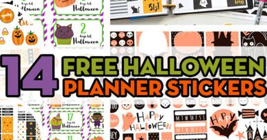 14 FREE Halloween Planner Stickers to decorate your planner for Halloween: planner stickers weekly kit, checklist stickers, halloween countdown #freeprintable #planner #plannerstickers #freeprintablestickers #halloween #bujo #lovelyplanner