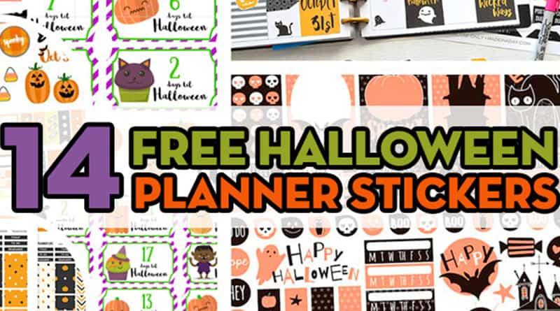 14 FREE Halloween Planner Stickers to decorate your planner for Halloween: planner stickers weekly kit, checklist stickers, halloween countdown #freeprintable #planner #plannerstickers #freeprintablestickers #halloween #bujo #lovelyplanner