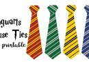 Free Printable Hogwarts House Ties for your Harry Potter Party: use as party favors, decoration, DIY costume accessory, Hogwarts House competition... #harrypotter #party #freeprintable #birthday #harrypotterparty #costume #halloween #diy