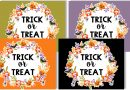 """Free Printable Halloween Trick or Treat Signs to decorate your porch on October 31. Also download the matching """"Out of Candy"""" signs. #halloween #freeprintable #fall #trickortreat #home #lovelyplanner"""