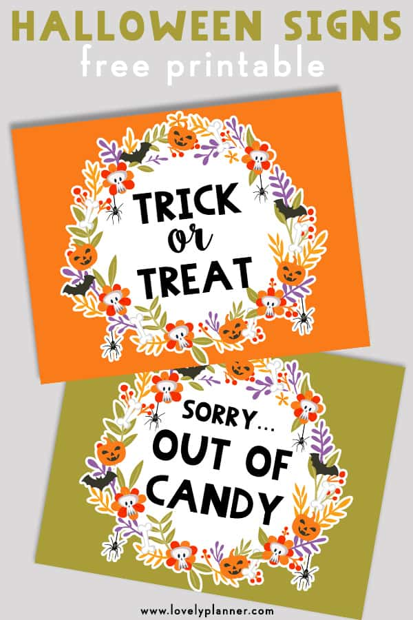 graphic about Halloween Signs Printable referred to as cost-free printable halloween trick or take care of indicator and out of