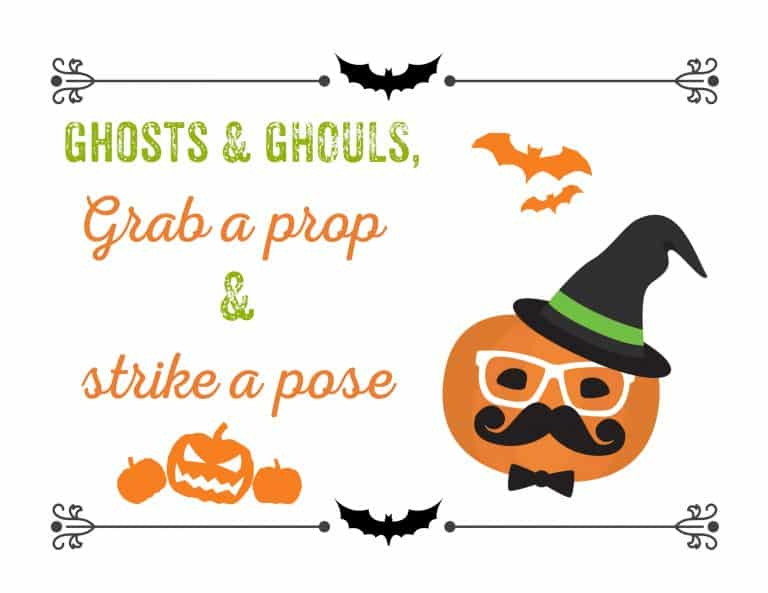 picture relating to Free Printable Photo Booth Sign named Cost-free Printable Halloween Image Booth Props - 11 Speech
