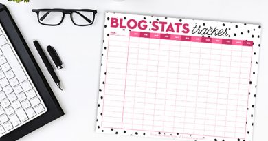 Free Printable Blog Stats Tracker (with editable PDF)