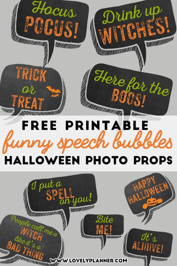 image regarding Free Printable Photo Booth Props Words identified as Free of charge Printable Halloween Photograph Booth Props - 11 Speech