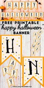 photograph regarding Free Printable Halloween Banner titled Absolutely free Printable Halloween Banner - Gorgeous Planner