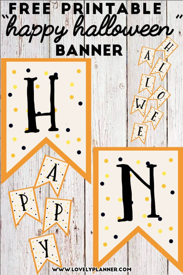 It is a graphic of Nifty Happy Halloween Banner Printable