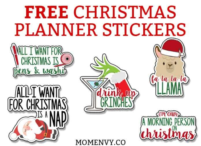 25 Funny Christmas Stickers