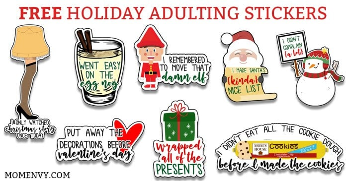 35 Fun Holiday Adulting Stickers
