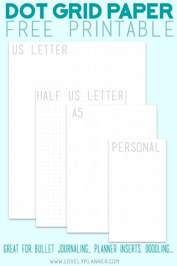 graphic regarding Dot Grid Printable titled No cost Printable Dot Grid Paper for Bullet Magazine - Stunning