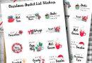 Free Printable Christmas Bucket List Planner Stickers