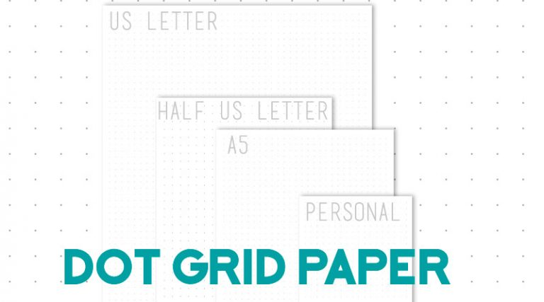 graphic regarding A5 Dot Grid Printable titled Totally free Printable Dot Grid Paper for Bullet Magazine - Gorgeous