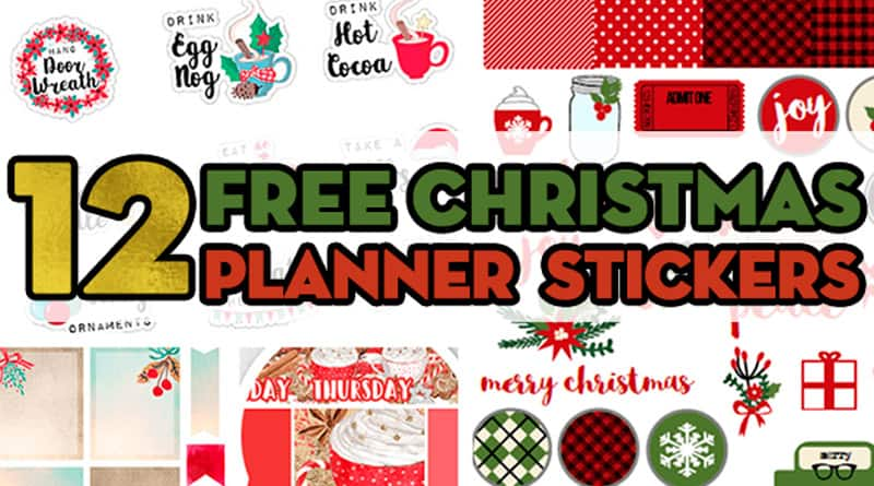 image regarding Printable Christmas Stickers called 12 Cost-free Printable Xmas Planner Stickers - Attractive Planner
