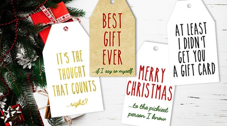 graphic regarding Free Printable Gift Tags Christmas called 16 Totally free Printable Amusing Truthful Xmas Reward Tags - Magnificent