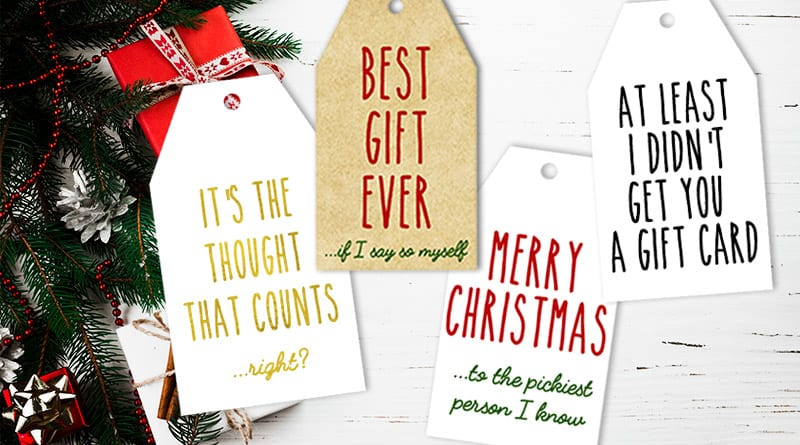Funny Honest Christmas Gift Tags