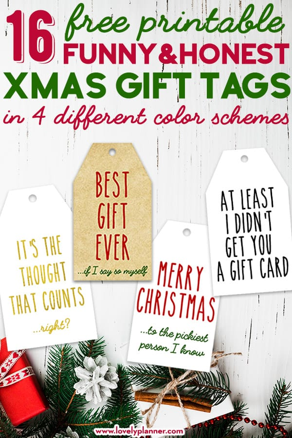 image regarding Printable Santa Gift Tags called 16 Totally free Printable Humorous Truthful Xmas Reward Tags - Magnificent