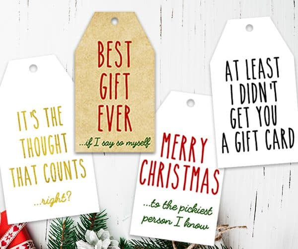 photo regarding Free Printable Funny Christmas Cards known as 16 No cost Printable Humorous Genuine Xmas Present Tags - Magnificent