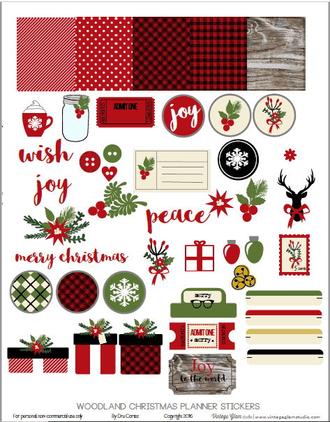 graphic regarding Printable Christmas Stickers titled 12 Totally free Printable Xmas Planner Stickers - Magnificent Planner