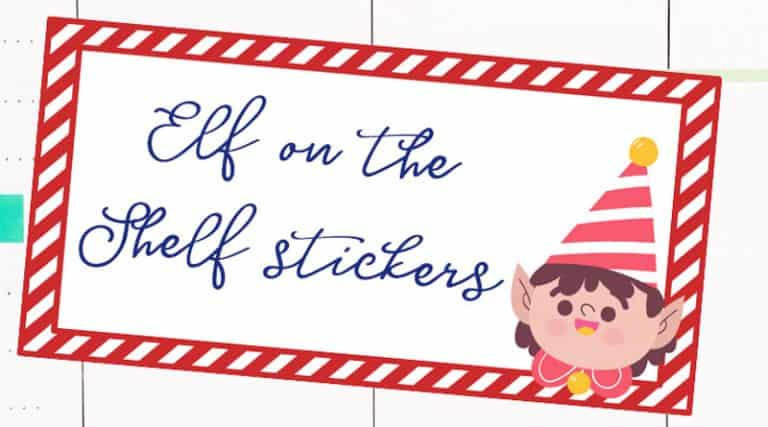 graphic about Free Elf Printable named Free of charge Printable Elf Upon The Shelf Planner Stickers - Stunning
