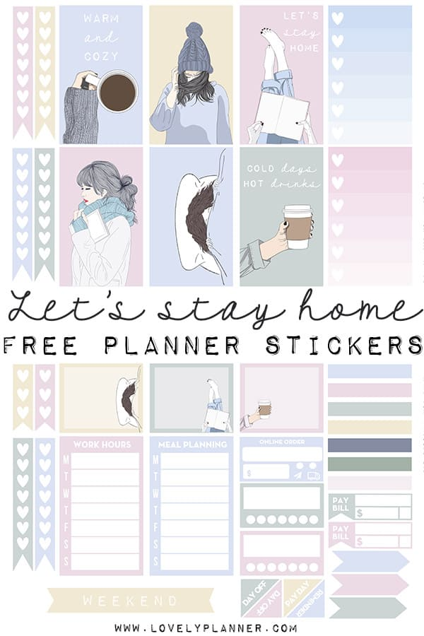 image regarding Printable Planner referred to as Will allow continue being household\