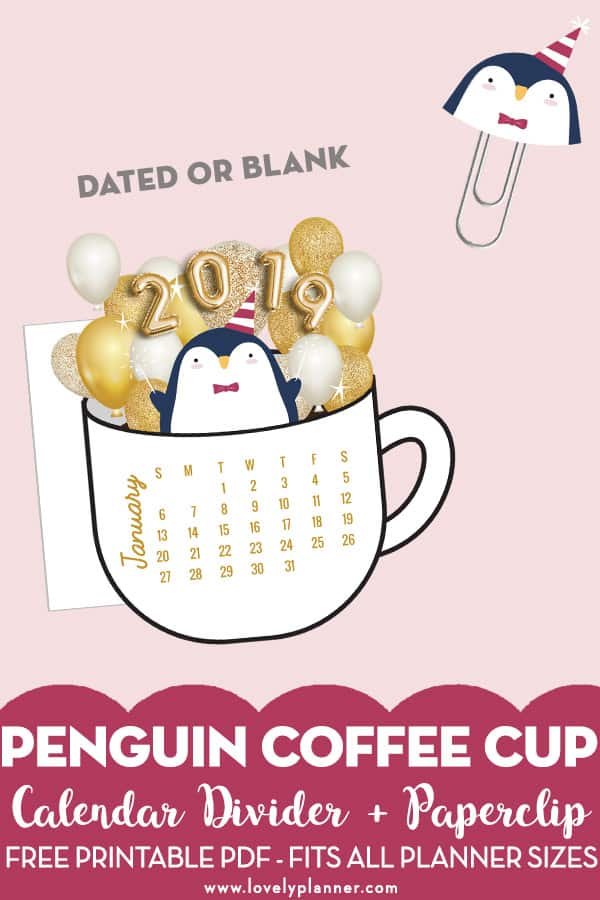 photo about Penguins Printable Schedule identify cost-free printable festive penguin calendar divider die slash