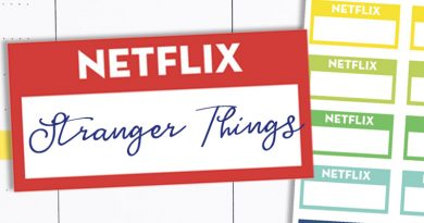 Free Printable Netflix Planner Stickers - TV shows tracker #freeprintable #planner #stickers #plannerstickers #lovelyplanner