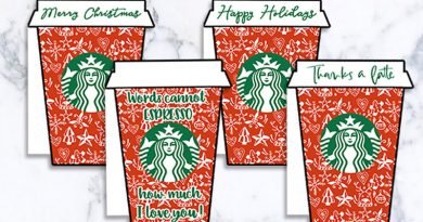 4 FREE Printable Christmas Starbucks Gift Card Holders #christmas #gift #freeprintable #starbucks #lovelyplanner