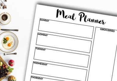 Free Printable Weekly Meal Planner #organization #freeprintable #home #meal #recipe #lovelyplanner