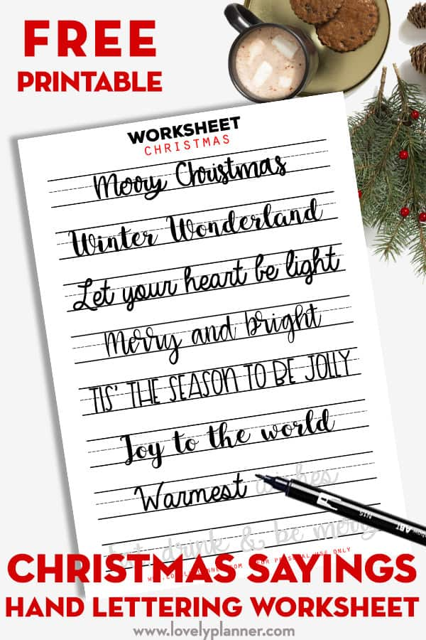 graphic relating to Printable Sayings referred to as absolutely free printable Xmas sayings lettering worksheet