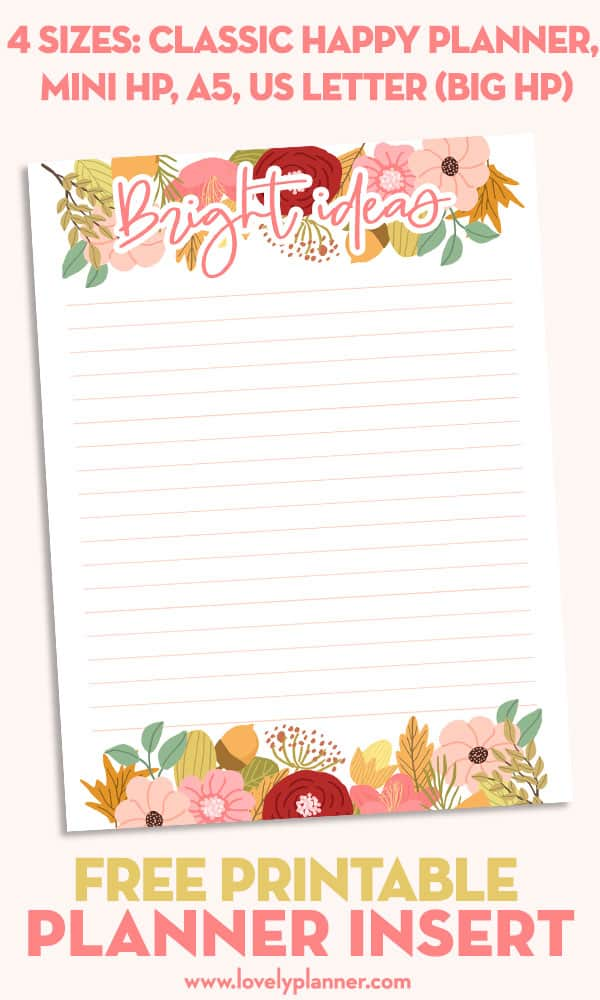 This is an image of Ridiculous Free Mini Happy Planner Printable Inserts