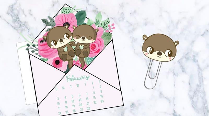 Free Printable Cute Floral Love Letter Calendar Divider Paperclip