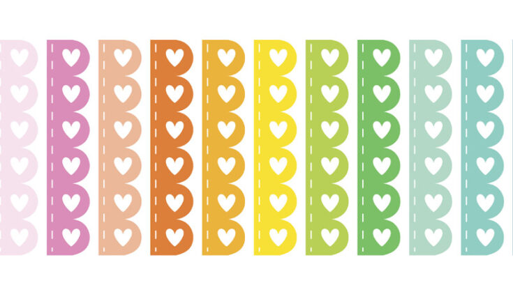 Free Printable Scalloped Checklist Planner Stickers - rainbow