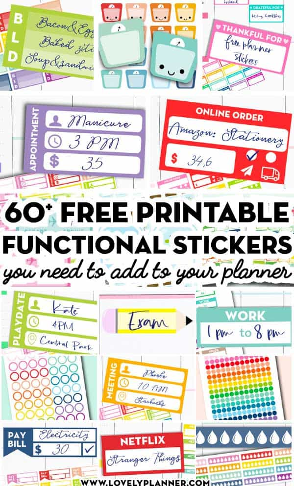 Fashion Bullet Journal Planner Stickers Free Same Day Dispatch