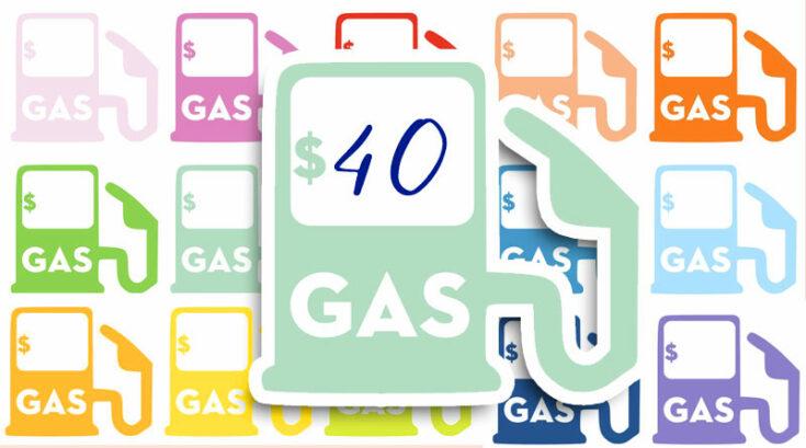 Free Printable Gas Pump Planner Stickers