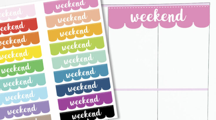 Free Printable Scalloped Weekend Stickers For Your Planner
