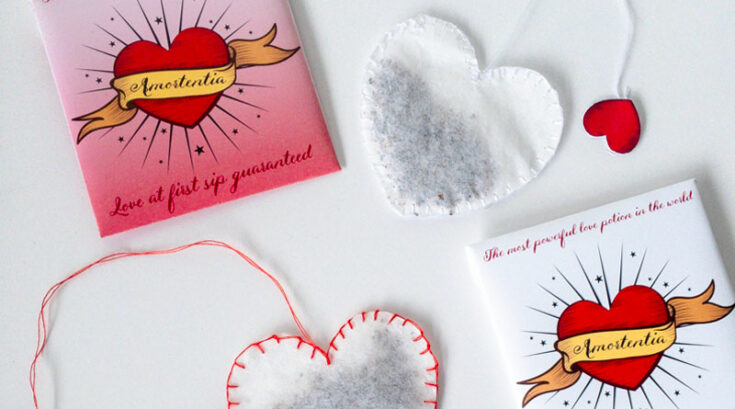 Harry Potter DIY Love Potion - Amortentia Heart Shaped Tea Bags with Free Printable