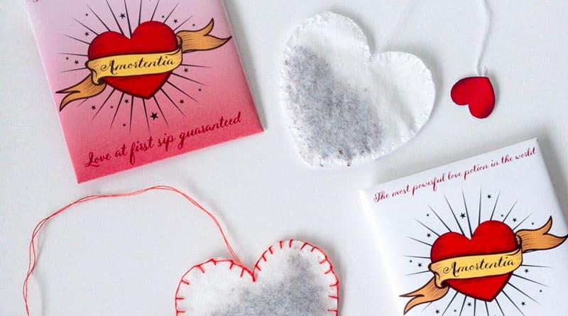 Free Printable Amortentia Tea Bag Harry Potter DIY Valentine's Day #harrypotter #DIY #valentinesday #gift #tea #lovelyplanner