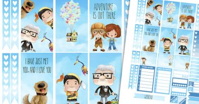 "Free Printable Weekly Planner Stickers inspired by Pixar Movie ""UP"""