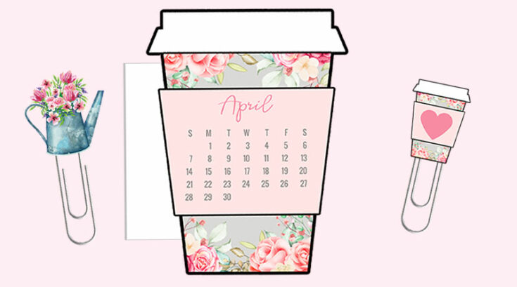 Floral Farmhouse Coffee Cup Planner Divider
