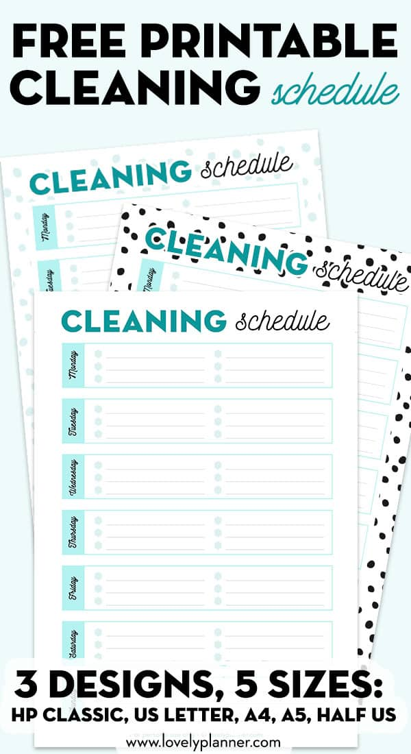 photo regarding Free Printable Cleaning Schedule called Totally free Printable Cleansing Agenda - Gorgeous Planner