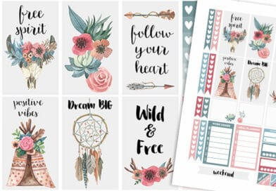 Boho Planner Stickers Weekly Kit
