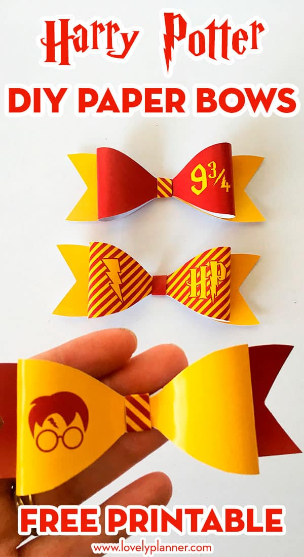 DIY Harry Potter Paper Bows
