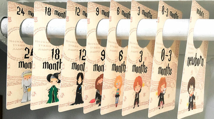 Free Printable DIY Harry Potter Baby Closet Dividers