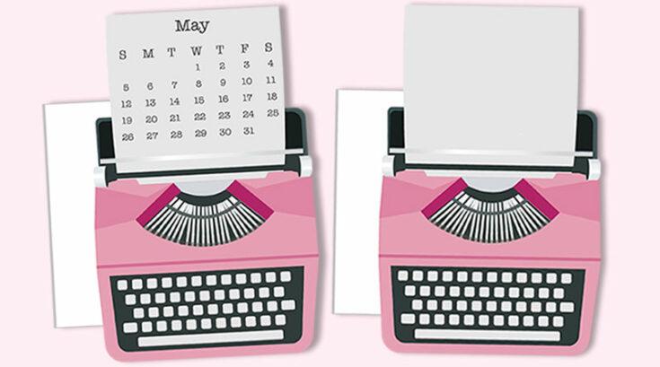 Typewriter Planner Divider