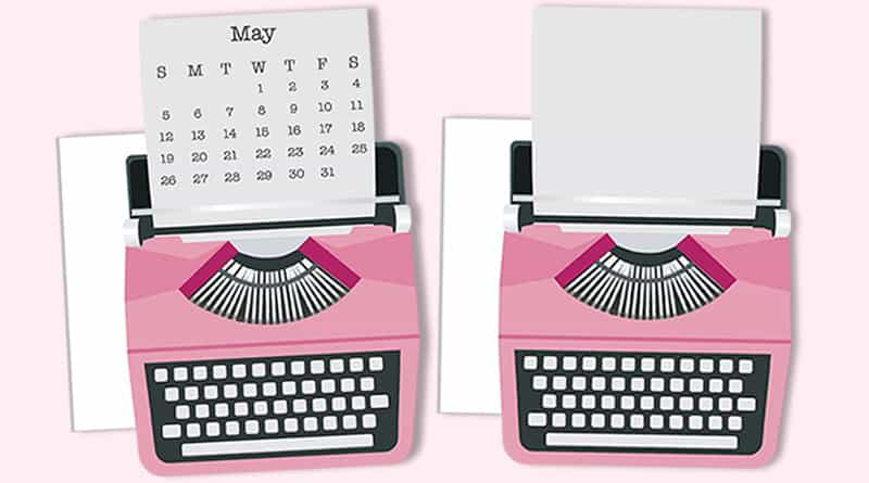 Free Printable Typewriter Die Cut/ Planner Divider to decorate your planner or bullet journal - 2 versions: blank undated or dated. #freeprintable #planner #bulletjournal #lovelyplanner