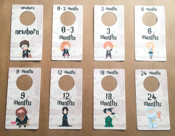 Harry Potter DIY Baby Closet Dividers